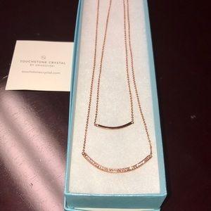 swarovski touchstone Jewelry - Swarovski Touchstone 2 tier necklace